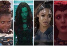 marvel women superheroes, shuri, gamora, Valkyrie, scarlet withc, wandavision