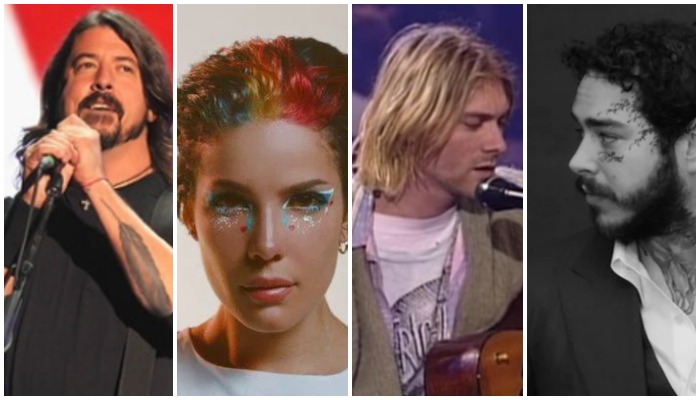 Dave Grohl, Halsey, Nirvana, Post Malone