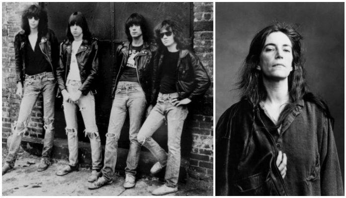 New york city punk rock from the 70s, patti smith ramones