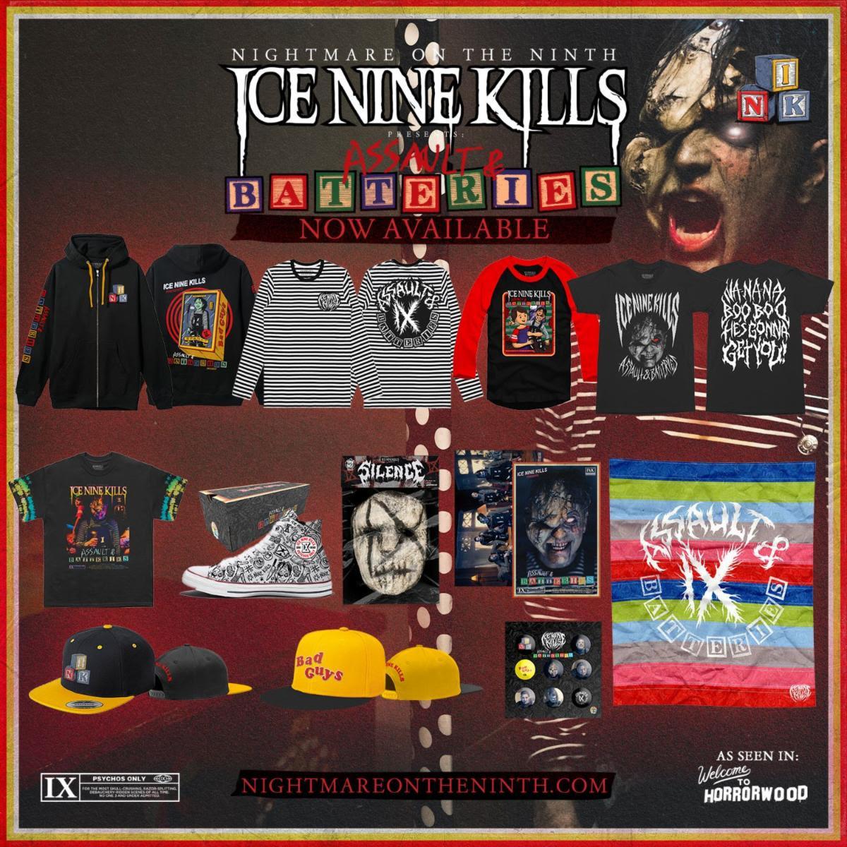 Ice Nine Kills Assault & Batteries merch