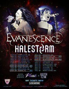 Evanescence Halestorm 2021 tour admat