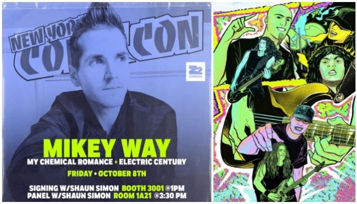 z2 comics comic con booth, mikey way